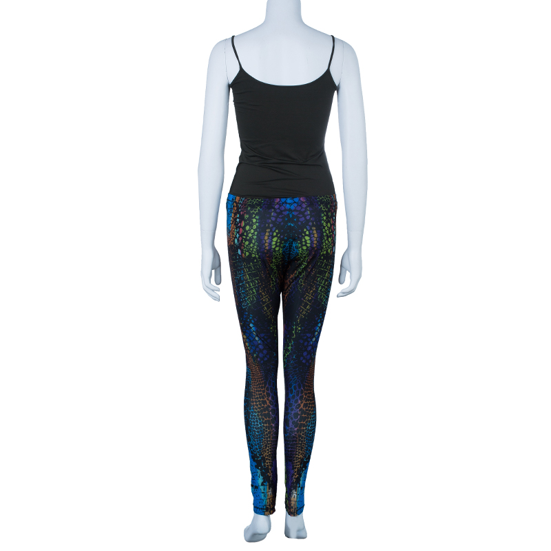 McQ Alexander McQueen Multicolor Kaleidoscope Crocodile Leggings