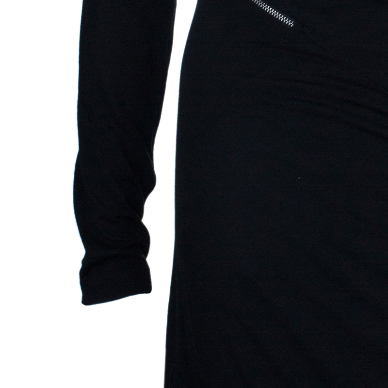 McQ by Alexander McQueen Black Zip Detail Dress XS
