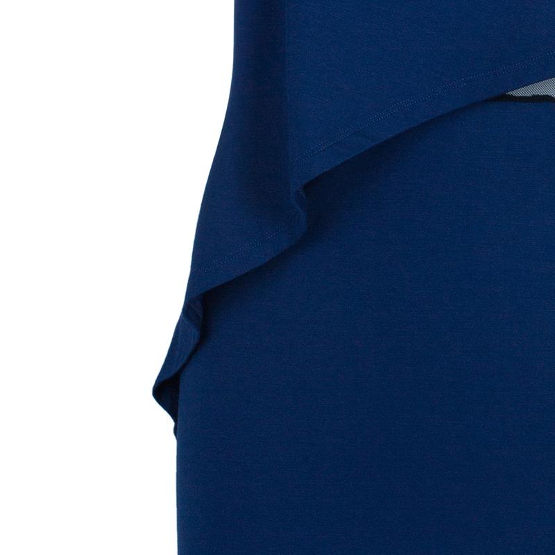 McQ By Alexander McQueen Mesh Inset Asymmetrical Dress L