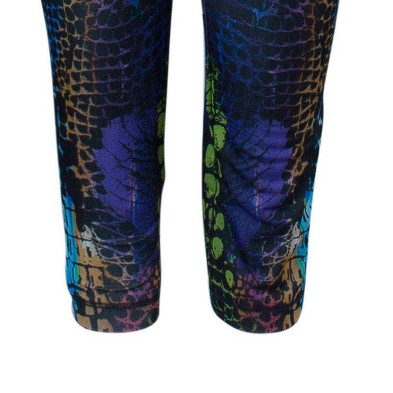 McQ Alexander McQueen Multicolor Kaleidoscope Crocodile Leggings
