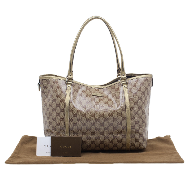Gucci Gold Crystal Monogram Medium Tote