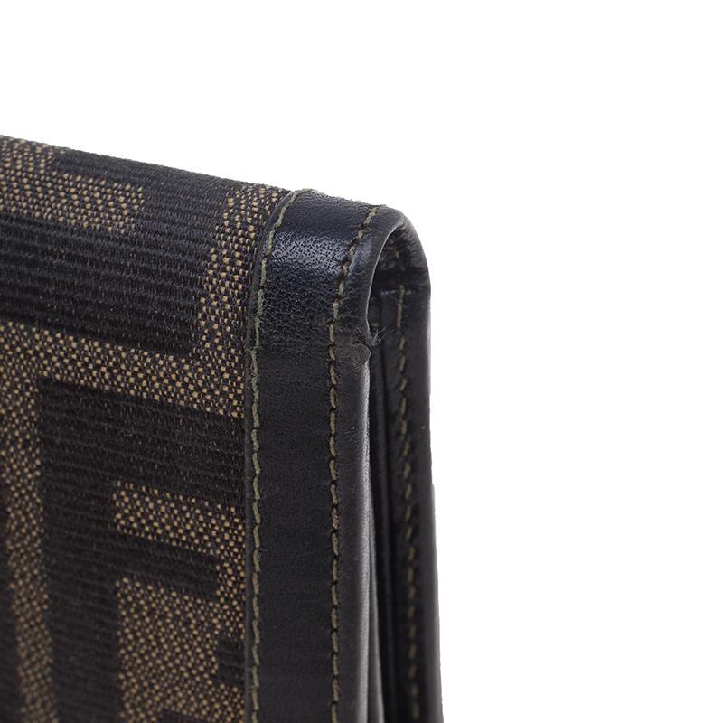 Fendi Zucca Flap Compact Wallet