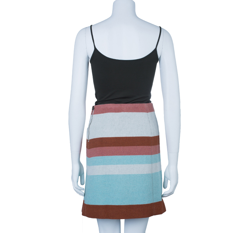 See By Chloe Multicolor Striped Wool Skirt