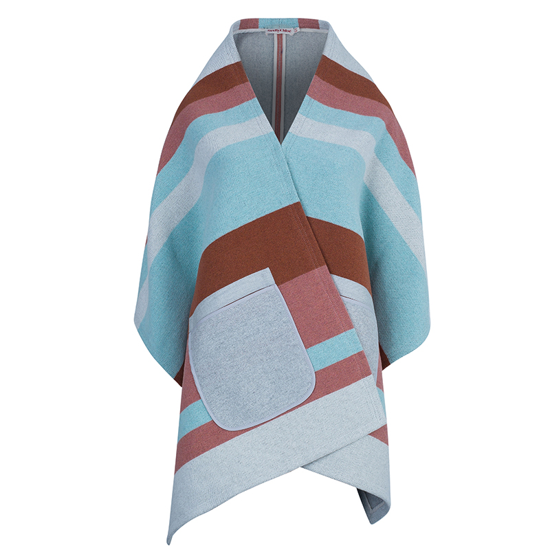 See By Chloe Striped Wool Cape