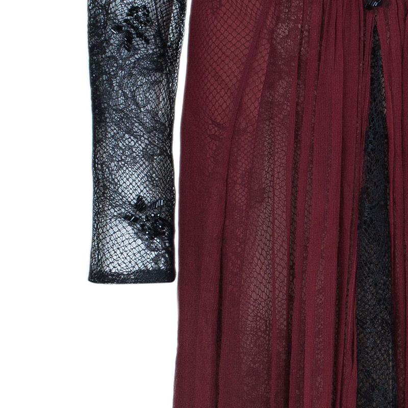 Tadashi Shoji Bead Embellished Ruched Chiffon Red Gown XXL