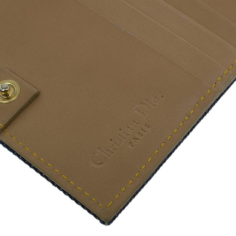 Dior Blue Denim Logo Charm Wallet