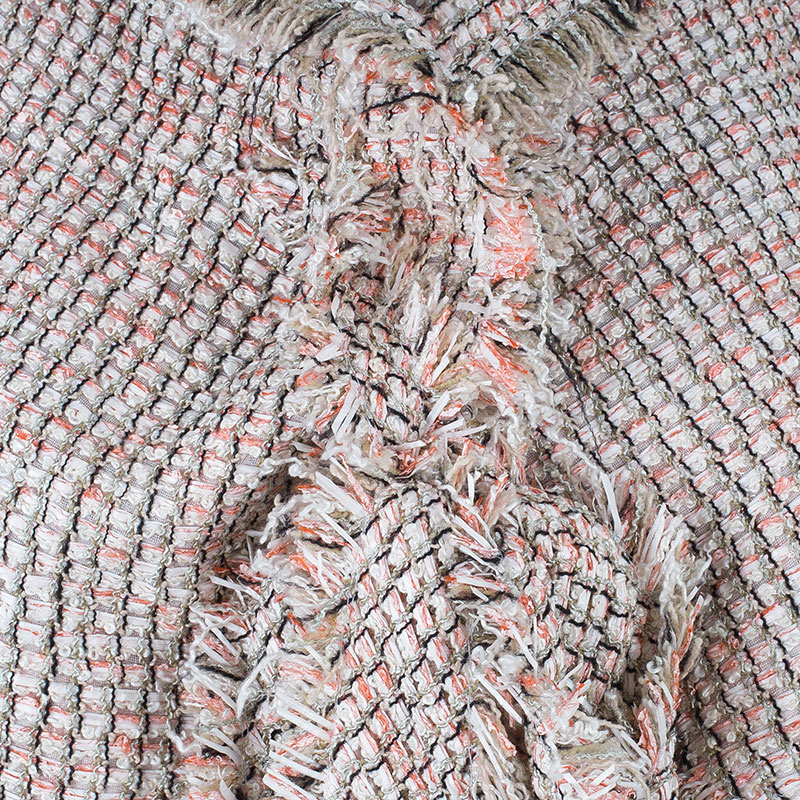 Chanel Salmon Pink Tie-Front Boucle Jacket S
