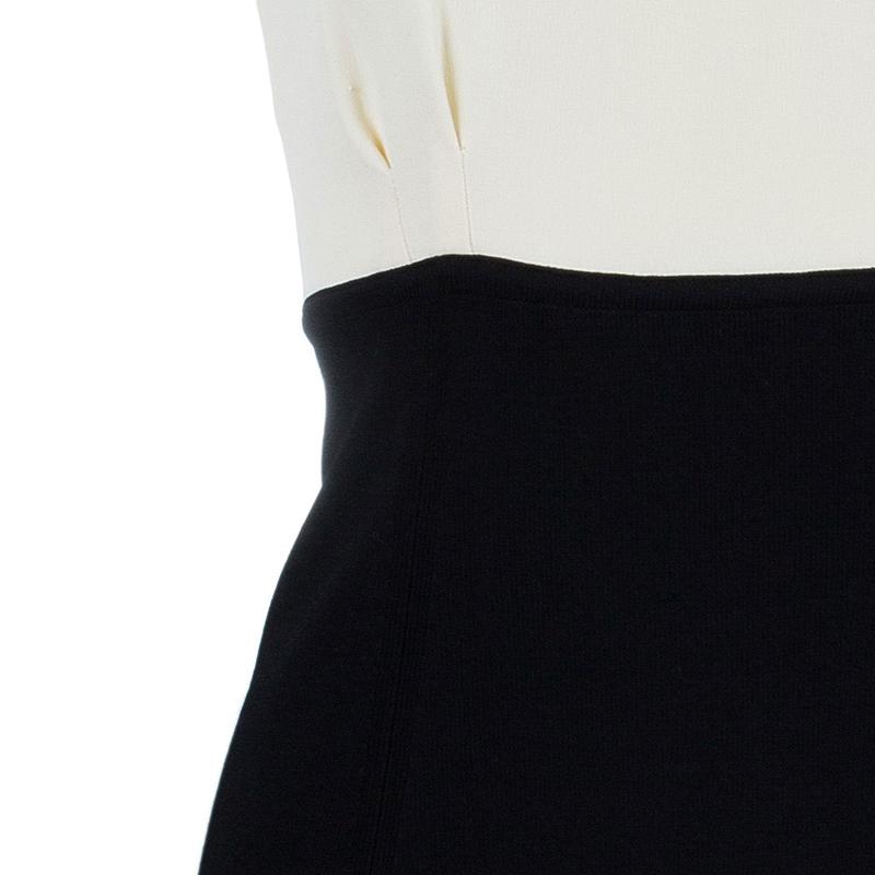 Chanel Monochrome Sleeveless Dress S