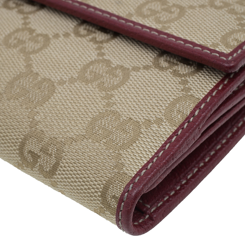 Gucci Beige Guccissima Canvas Princy Continental Wallet