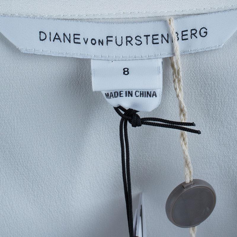 Diane Von Furstenberg White Harlow Blouse M