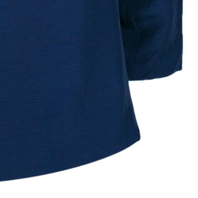 Marni Navy Silk Long Sleeve Top S