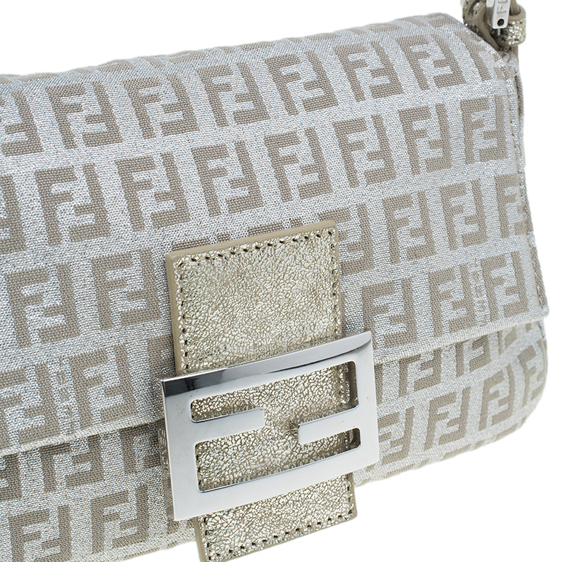 Fendi Gold and Silver Zucchino Mini Mama bag