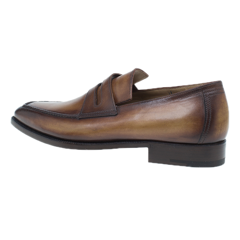Berluti Brown Leather Andy Penny Loafers Size 41