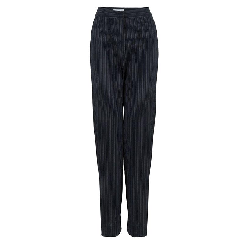 Max Mara Black Pinstripe Pant Suit S