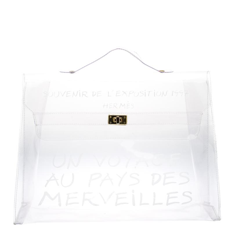 c787304c351 ... hot hermes clear vinyl vintage kelly bag. nextprev. prevnext 960ab 23814