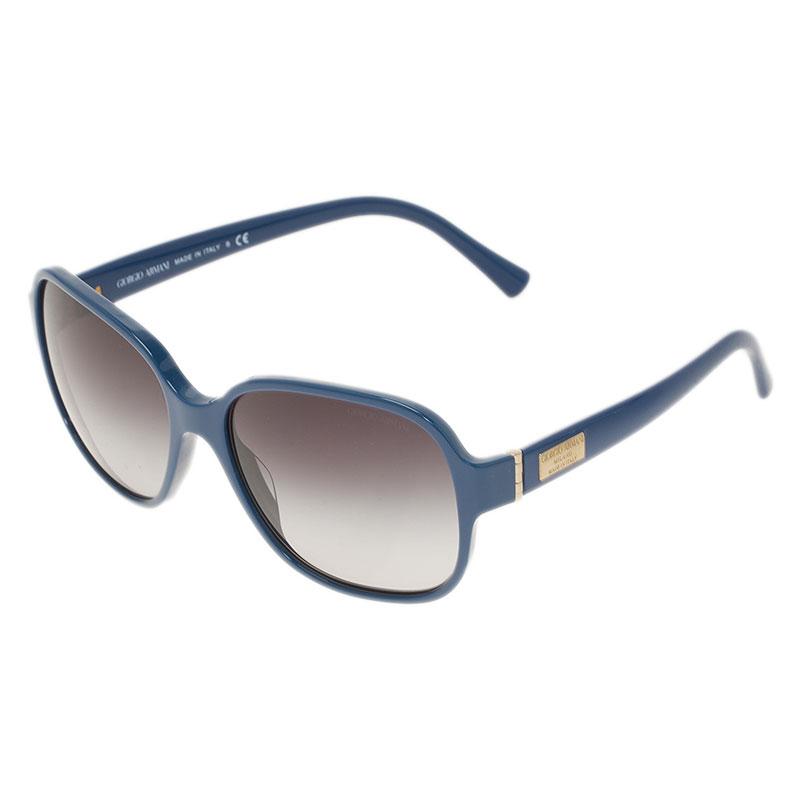 Giorgio Armani Blue 8020 Oversized Square Sunglasses