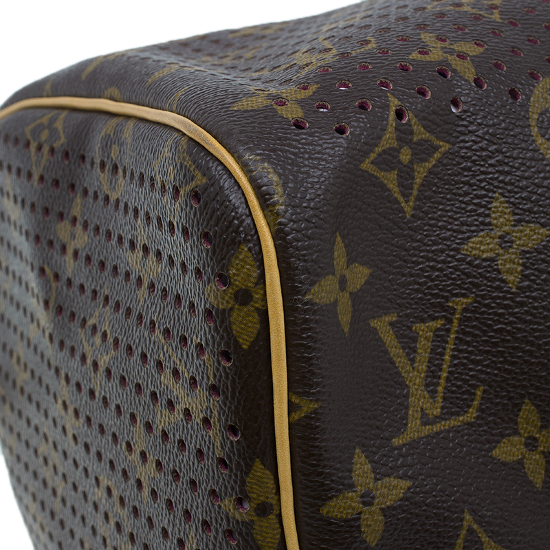 Louis Vuitton Fuchsia Perforated Monogram Canvas Limited Edition Speedy 30