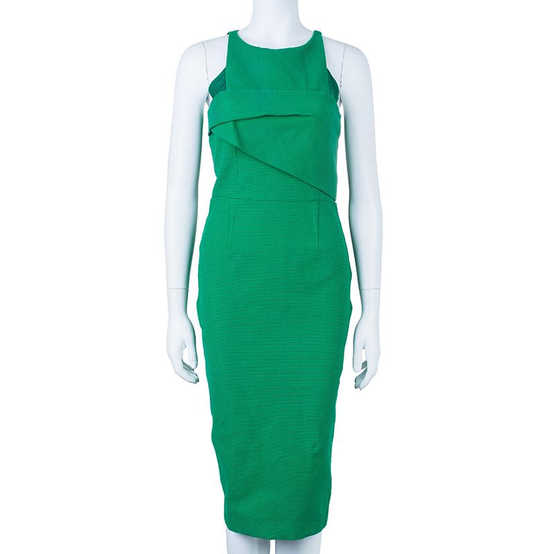 Roland Mouret Abersley Textured Dress M