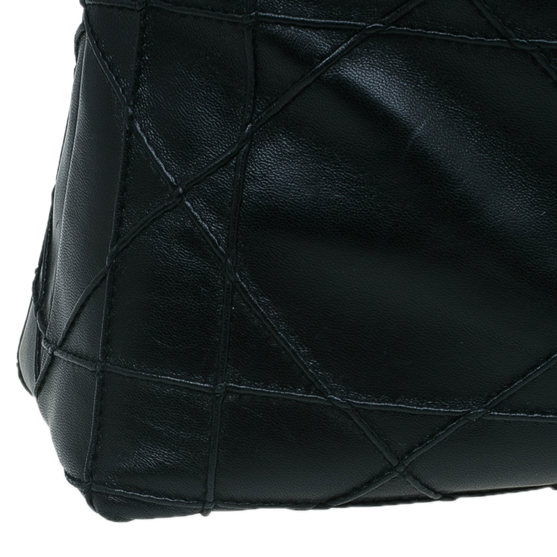 Dior Black Cannage Quilted Lambskin Leather So Dior Tote Bag