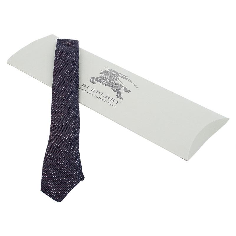 Burberry Purple Two Tone Woven Silk Tie