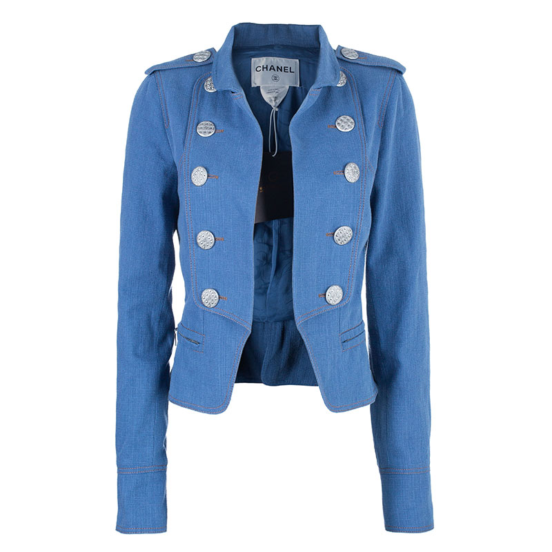 Chanel Denim Nautical Cropped Jacket S