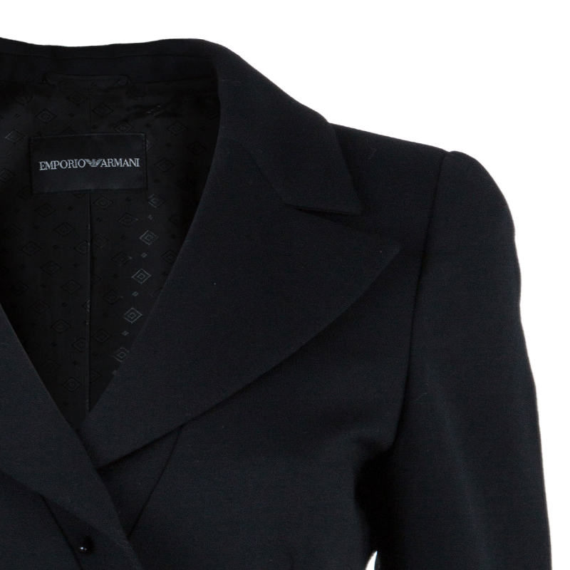 Emporio Armani Black Tailored Blazer S