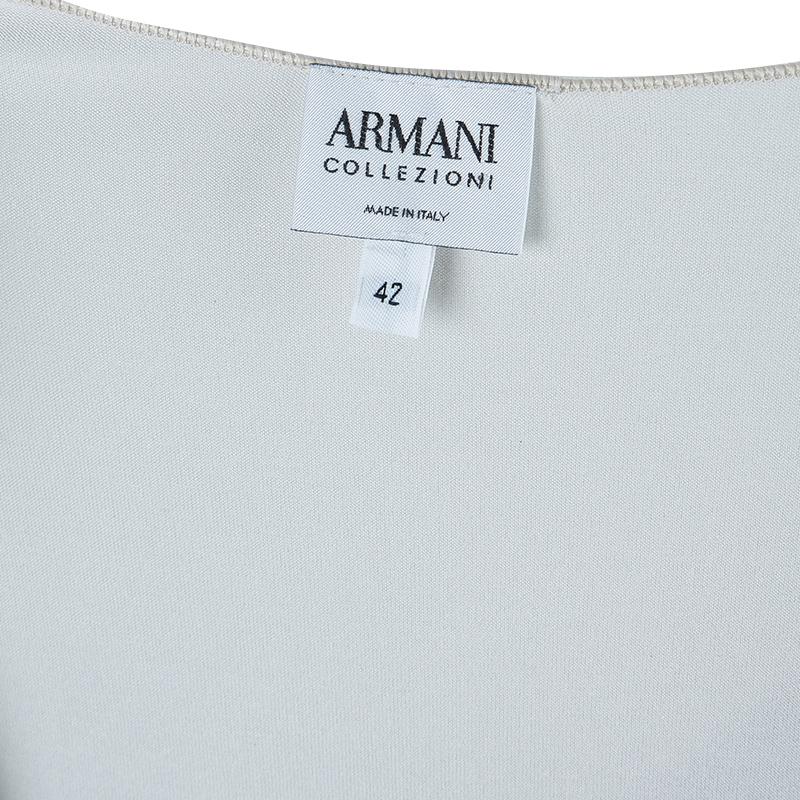 Armani Collezioni White Sleeveless Top M