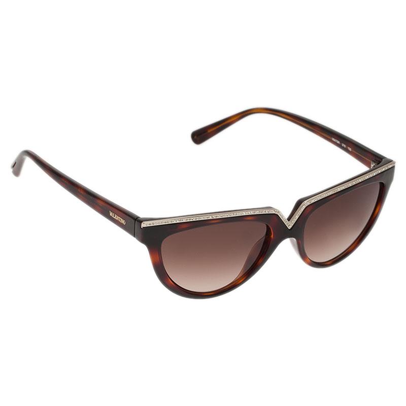 Valentino Tortoise Frame 674S Square Sunglasses