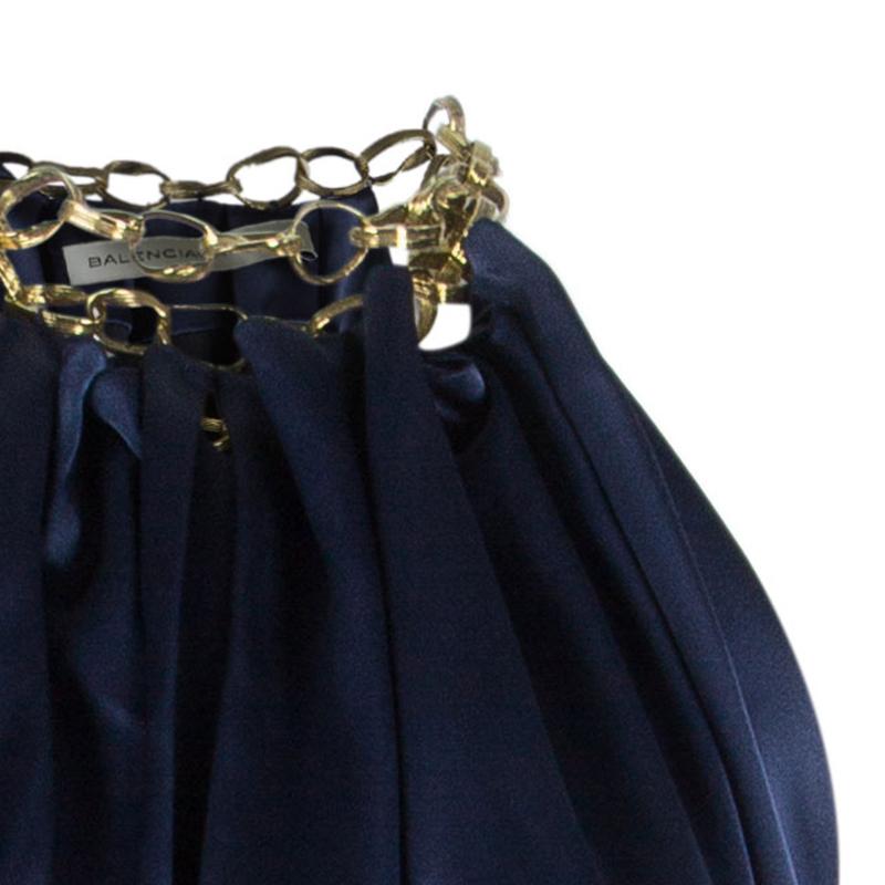 Balenciaga Midnight Blue Halter Gown M