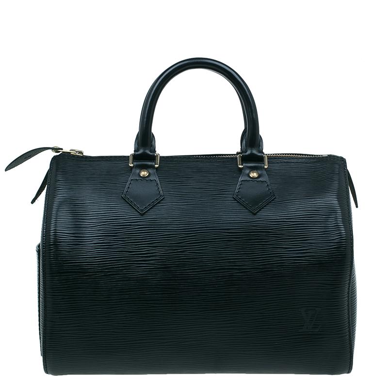 Louis Vuitton Black Epi Speedy 25 Bag