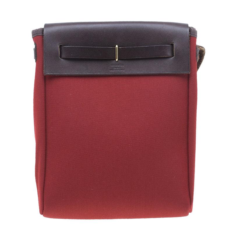 Hermes Orange and Red Herbag TPM Crossbody Bag