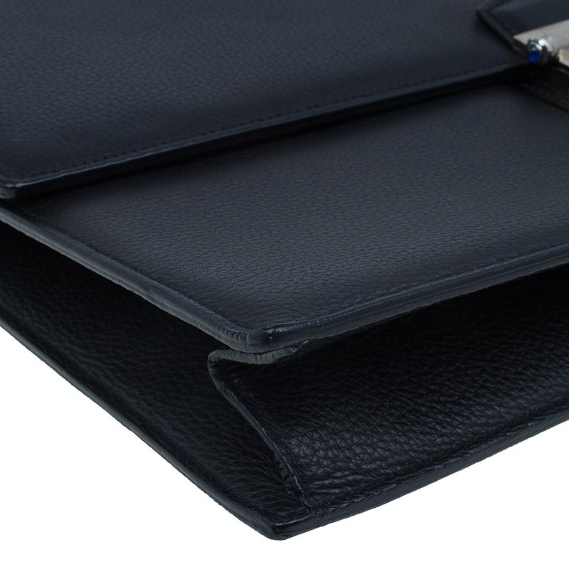 Cartier Black Leather Pasha Briefcase