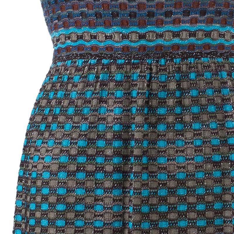 M Missoni Multicolor Sleeveless Bodycon Dress S