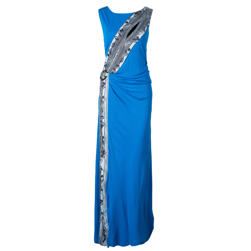 Class by Roberto Cavalli Turquoise Sleeveless Long Dress XL