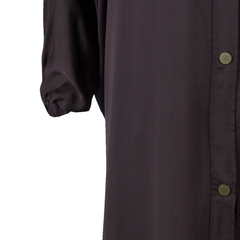 Lanvin Brown Long Shirt Dress OS
