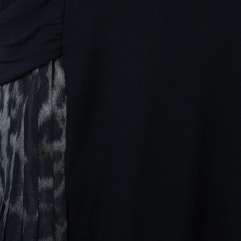 Roberto Cavalli Black Animal Printed Dress M