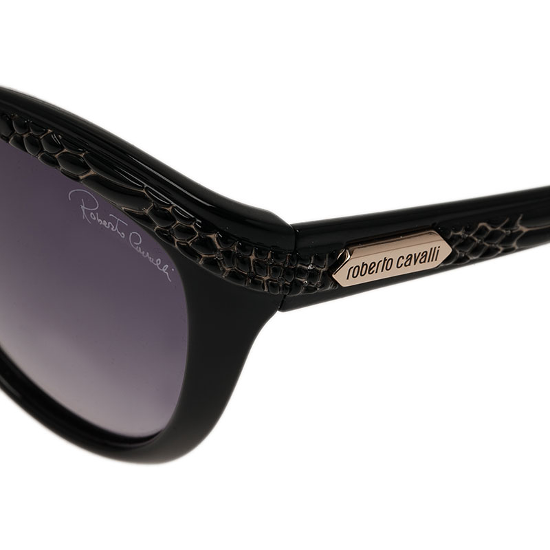 Roberto Cavalli Black Acubens Cat Eye Sunglasses