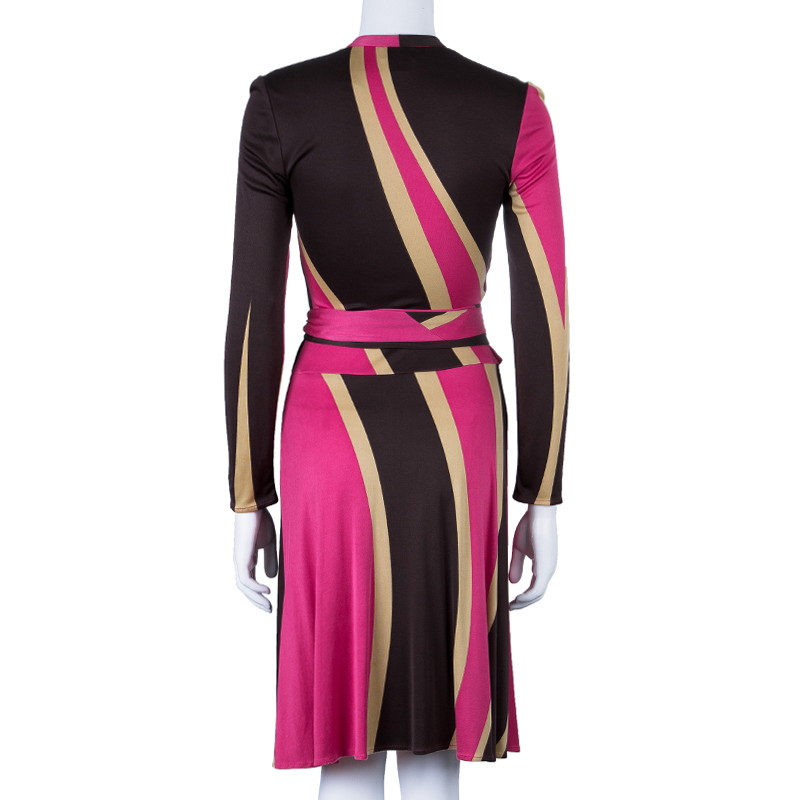 Issa London Pink Tie-Front Dress S