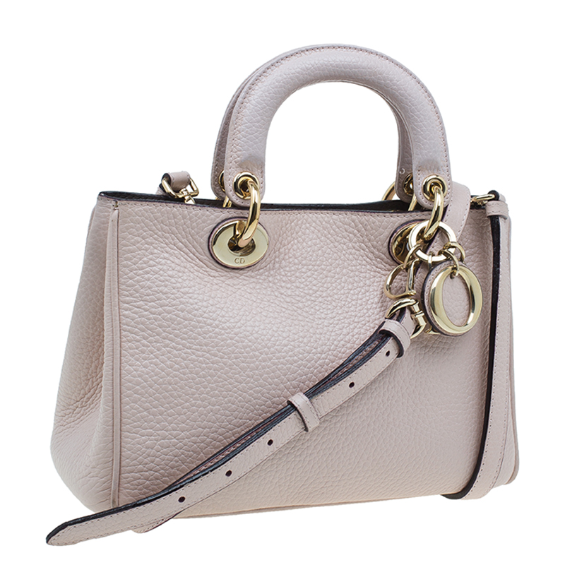 Dior Pink Smooth Calfskin Leather Mini Diorissimo Tote Bag