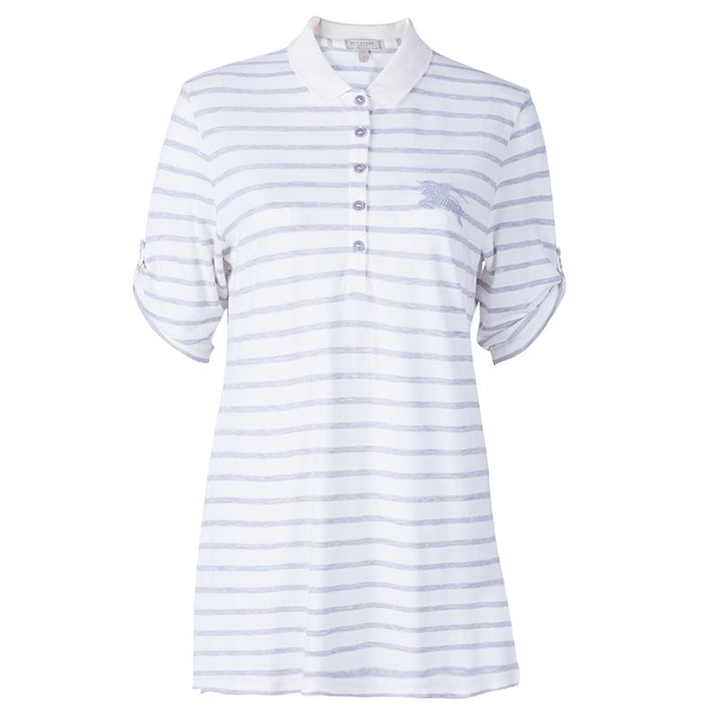 Burberry Brit Striped Polo Shirt L