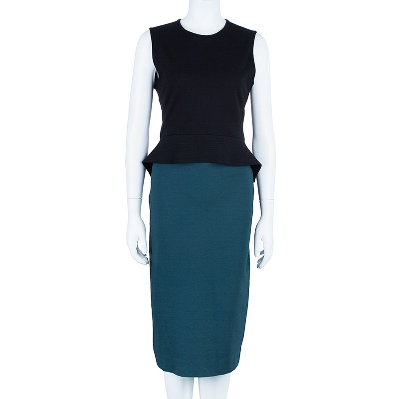 Stella McCartney Color-block Midi Dress L