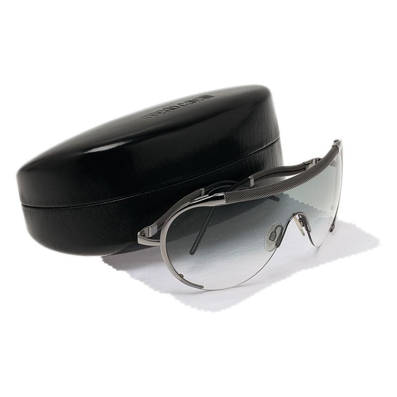 Roberto Cavalli Silver Eva Shield Sunglasses