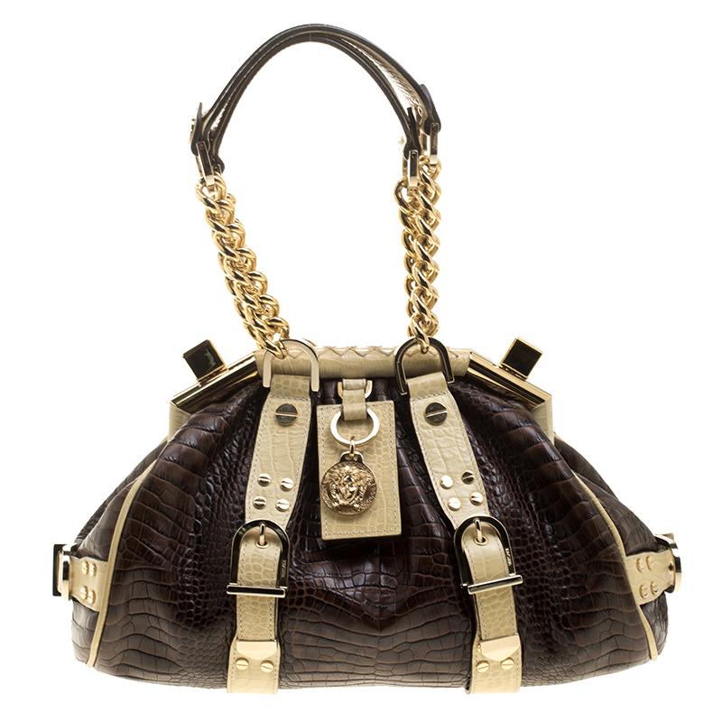 8ea878906c0 watch 00763 7751c versace crocodile embossed leather small hobo ...