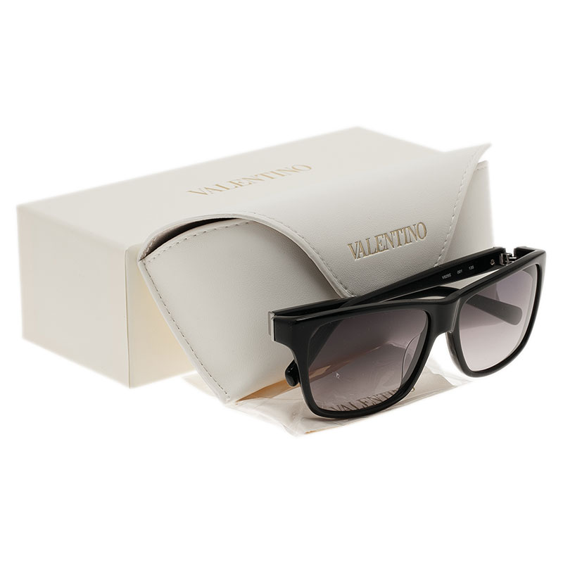 Valentino Black V629S Square Sunglasses