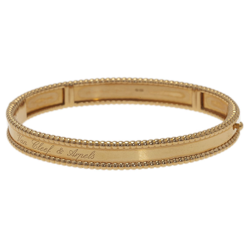 Van Cleef & Arpels Perlée Signature Yellow Gold Bracelet