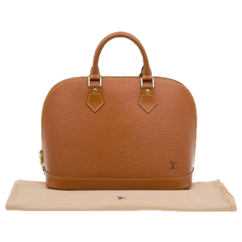 Louis Vuitton Tan Epi Leather Alma PM Bag