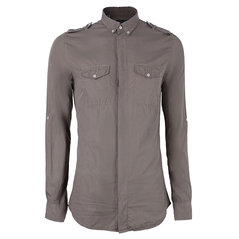Dolce and Gabbana Men's Khaki Casual Shirt S
