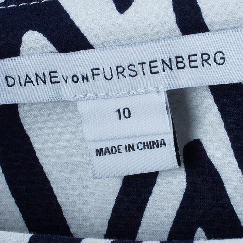 Diane von Furstenberg White Ikat Stamp Kenza Top L