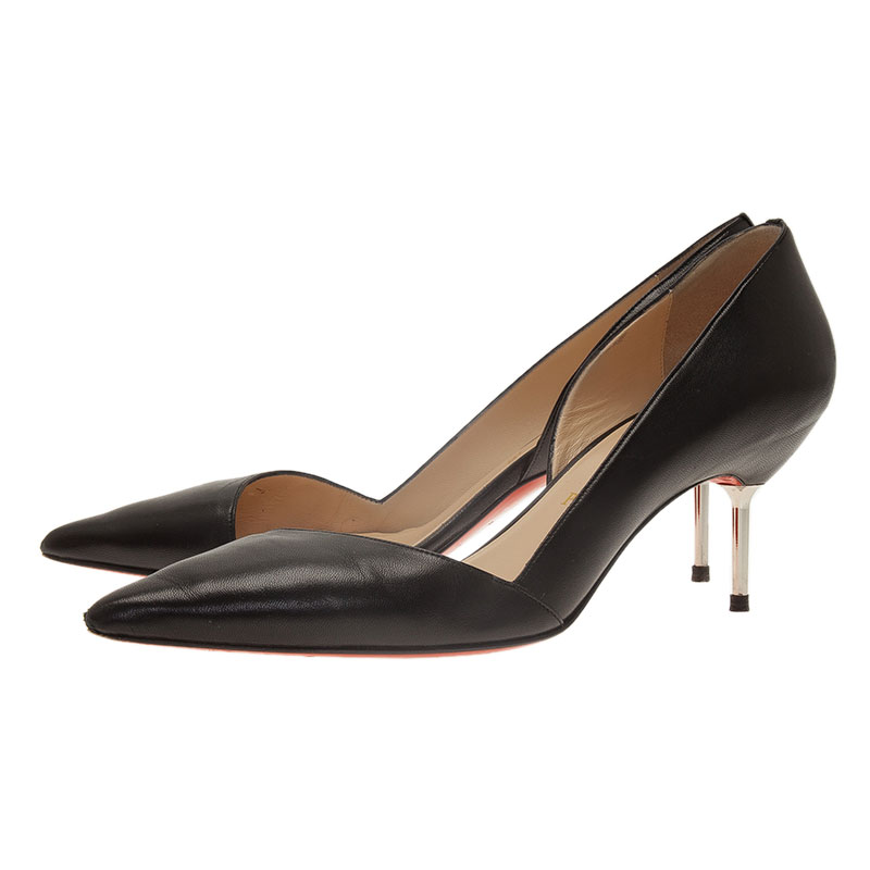 Christian Louboutin Black Leather Newton D'Orsay Pumps Size 40