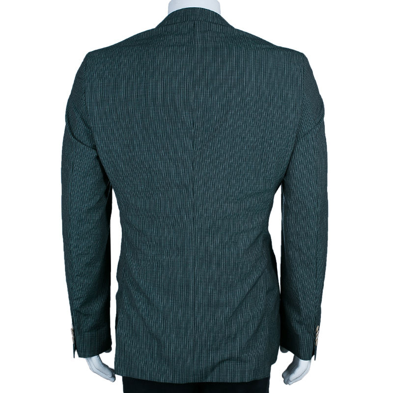 Boss By Hugo Boss Men's Emerald Green Checked Blazer M